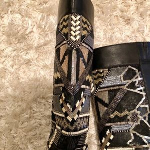 Ivy Kirzhner Shoes - Ivy Kirzhner Leather, Beaded and Sequin Boot